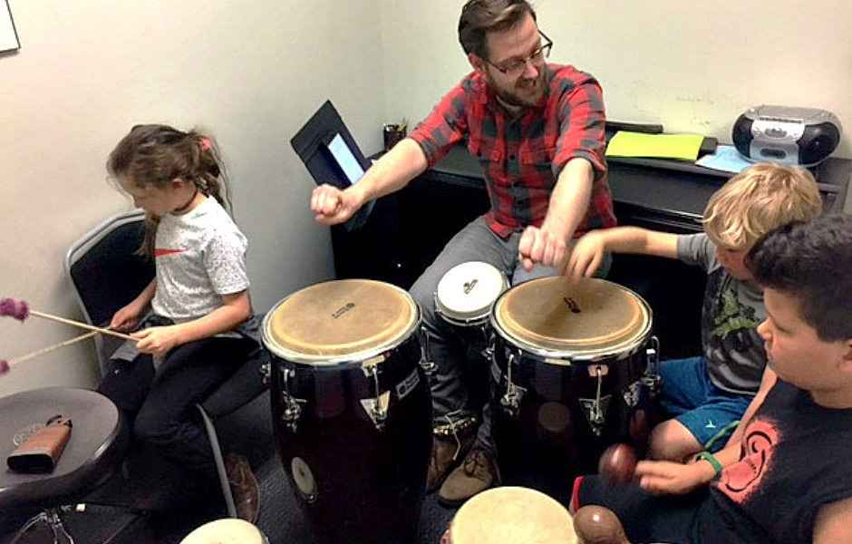 Potomac Percussion Instructor teaching drum lessons in Bethesda, Rockville and Chevy Chase