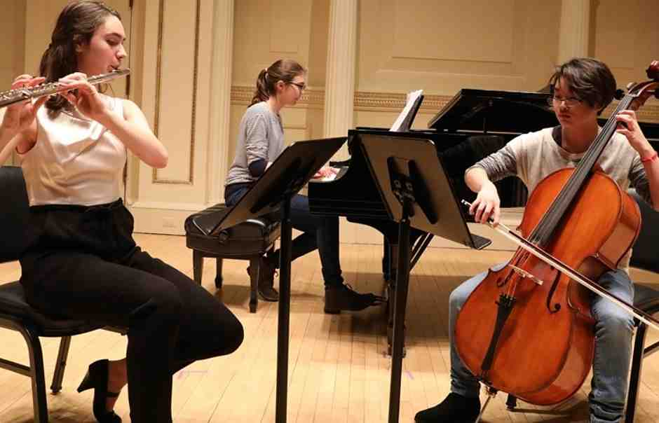 International School of Music's teen students playing together in Bethesda