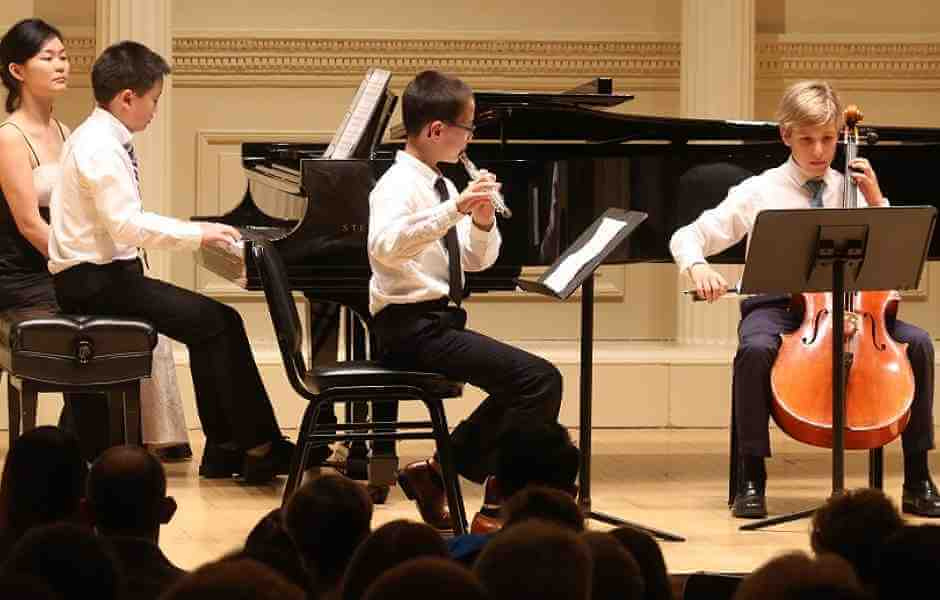 Children performing at International School of Music recital in Potomac