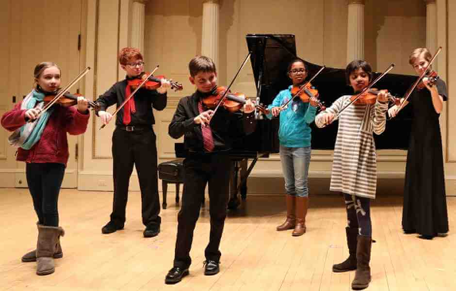 Bethesda Students Performing in a Music Ensemble at International School of Music in Bethesda
